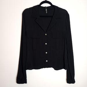 Zara TRF collection button down blouse